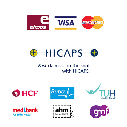 Image of payment options including Eftpos, Visa and Mastercard